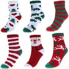 christmas socks ayliss 6 pack women christmas socks winter warm thicken coral fleece
