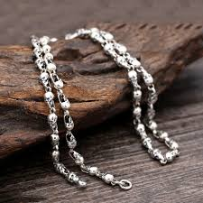 silver skull chain necklace images Sterling silver skull chain necklace at crimson savage jpg