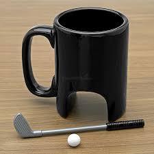 morning putt golfers coffee mug gift set coffee cup coffee and gift