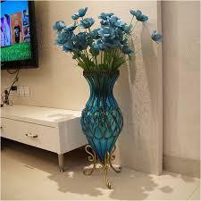 glass flower vase floor living room decoration married flower