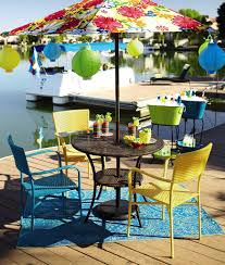 Retro Patio Umbrella by Impeccable Outdoor Colorful Patio Design Inspiration Integrating