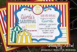 carnival circus invitations digital file on luulla