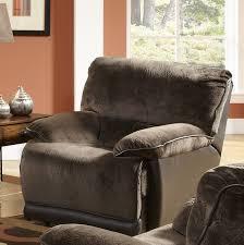 Two Tone Reclining Sofa Escalade Reclining Sofa In Chocolate Walnut Two Tone Fabric By