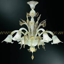 Gold Glass Chandelier Aqua Murano Glass Chandelier