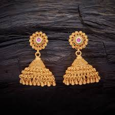 antique gold jhumka earrings pin by sain on indian jewelry antique
