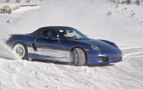 porsche snow frost versus bite porsche winter driving experience motor trend