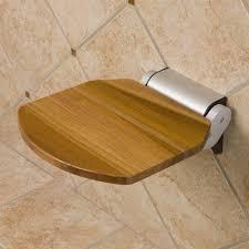 Small Teak Shower Stool Bathroom Interesting Floating Teak Shower Stool For Small Shower