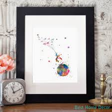 how to hang art prints without frames the little prince colorful inspired quote le petit prince
