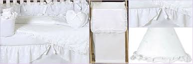 White Crib Set Bedding Shabby Chic White Eyelet Baby Bedding