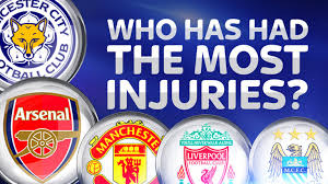 b premier league table premier league injury table man city have suffered the most