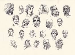 faces sketch study 8 by silentjustice on deviantart