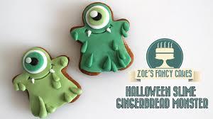 halloween slime monster gingerbread men youtube