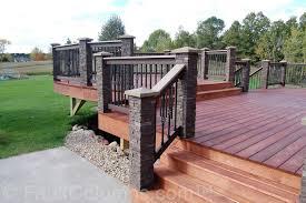 deck post covers stone radnor decoration