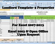 25 property tracking u2013 expense and rental income tracking template