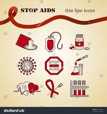 medical hiv aids color icons world stock vector 515598640