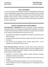 Retail Management Resume Sample by Musical Theatre Resume Template The General Format And Tips For