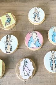 rabbit cookies painted rabbit cookies johnson s custom cakes