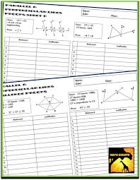 Midpoint Of A Line Segment Worksheet Proofs With Parallel U0026 Perpendicular Lines Two Column Proof