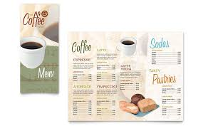 coffee shop menu template coffee shop menu template design