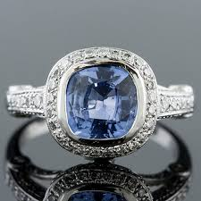 993b27natural non heated blue sapphire with micro pave set diamond