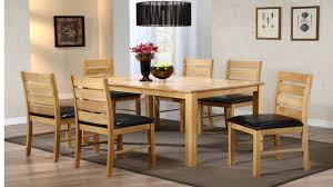 Dining Table And  Chairs Rubber Wood Homegenies - Rubberwood kitchen table