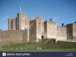 dover castle the mighty keep of dover castle english heritage stock photo