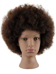 mannequin head african american with 100 human cosmetology