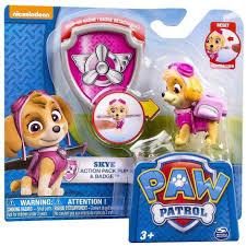 paw patrol skye action pack pup badge paw patrol skye paw