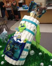 Golf Crib Bedding by Diaper Golf Bag To Match Shower Theme Decked Out In Monsters Inc