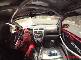 on board time atack civic type r ep3 rally honda civic type r