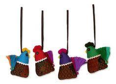 unicef market india handmade giraffe ornaments set of 4