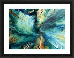 oil painting abstract color line wave design stockphotography
