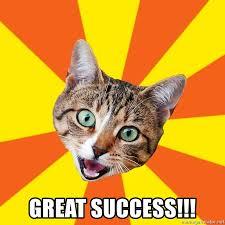 Success Cat Meme - great success bad advice cat meme generator