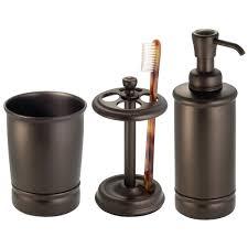 amazon com interdesign york bath accessory set soap dispenser