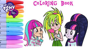 my little pony coloring book equestria girls twilight sparkle sour