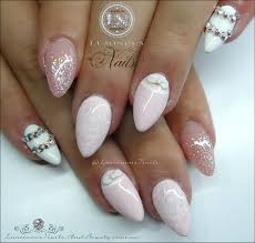 luminous nails baby pink u0026 white pretties acrylic u0026 gel nails