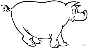 funny pig coloring page free printable coloring pages