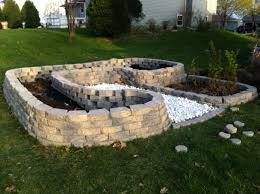 How To Build A Rock Garden Bed Outdoor Gardening How To Build Raised Garden Beds With Brick