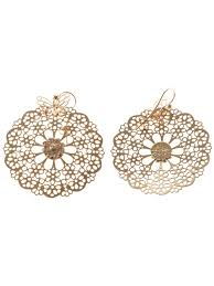 gas earrings lyst gas bijoux stainglass flower design earrings in metallic