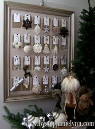 Pottery Barn Calendar Pottery Barn Inspired Framed Christmas Ornament Advent Countdown