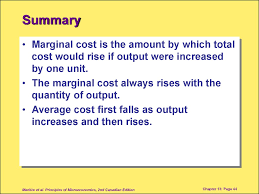 marginal costs chapter 13 the cost of production презентация онлайн