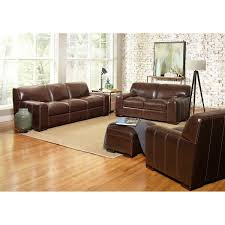 Leather Living Room Sets Carreyton 4 Piece Top Grain Leather Living Room Set