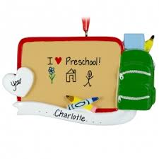 preschool ornaments gifts personalized ornaments for you