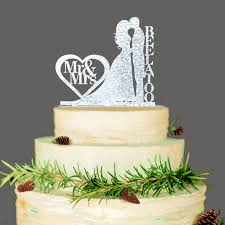 custom wedding cake toppers personalized wedding cake topper wedding decoration acrylic silver