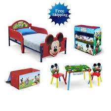 Mickey Mouse Chairs Mickey Mouse Room In A Box 3d Bed Table Chairs Toy Organizer