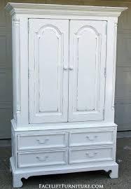 Furniture Armoire Wardrobe Distressed White Clothing Armoire Clothing Armoire White
