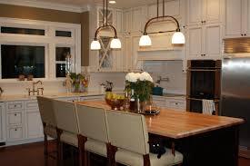 wood countertops kitchen island with butcher block lighting