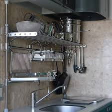 Stainless Steel Kitchen Shelves by Stainless Steel Shelves Commercial Cylinder Shining Fry Pan Large