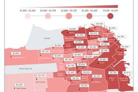 2 Bedroom Rentals Near Me Mapping Rent Prices By Neighborhood All Over San Francisco Curbed Sf