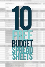 Free Spreadsheets 10 Free Household Budget Spreadsheets For 2017